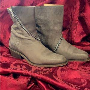 John Fluevog Spiral-Zip Leather Boots